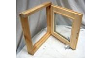Оконный блок 450*450 мм стеклопакет липа