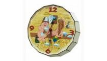 "Часы ""Бочка"" (Мужик и женщина) К"