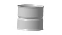 Адаптер котла  ф115*115, 1,0мм нерж.h-120мм